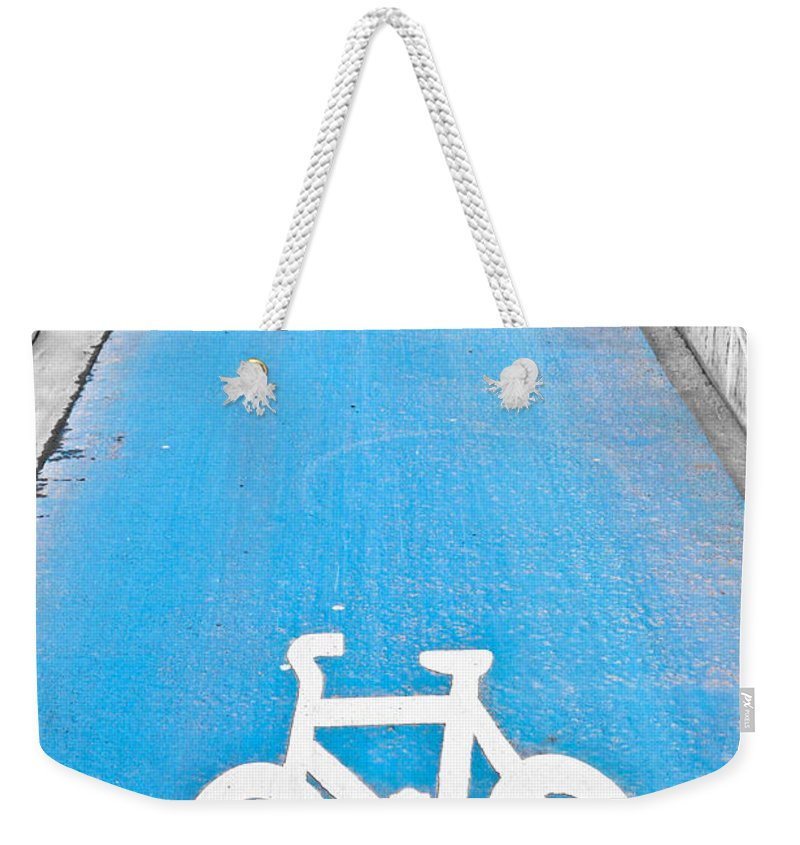 Active Weekender Tote Bag featuring the photograph Cycle Path by Tom Gowanlock