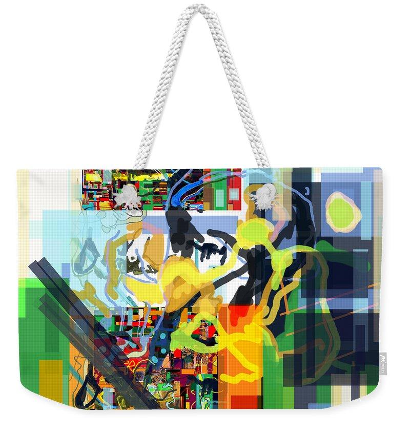 Weekender Tote Bag featuring the digital art Daas 17g by David Baruch Wolk