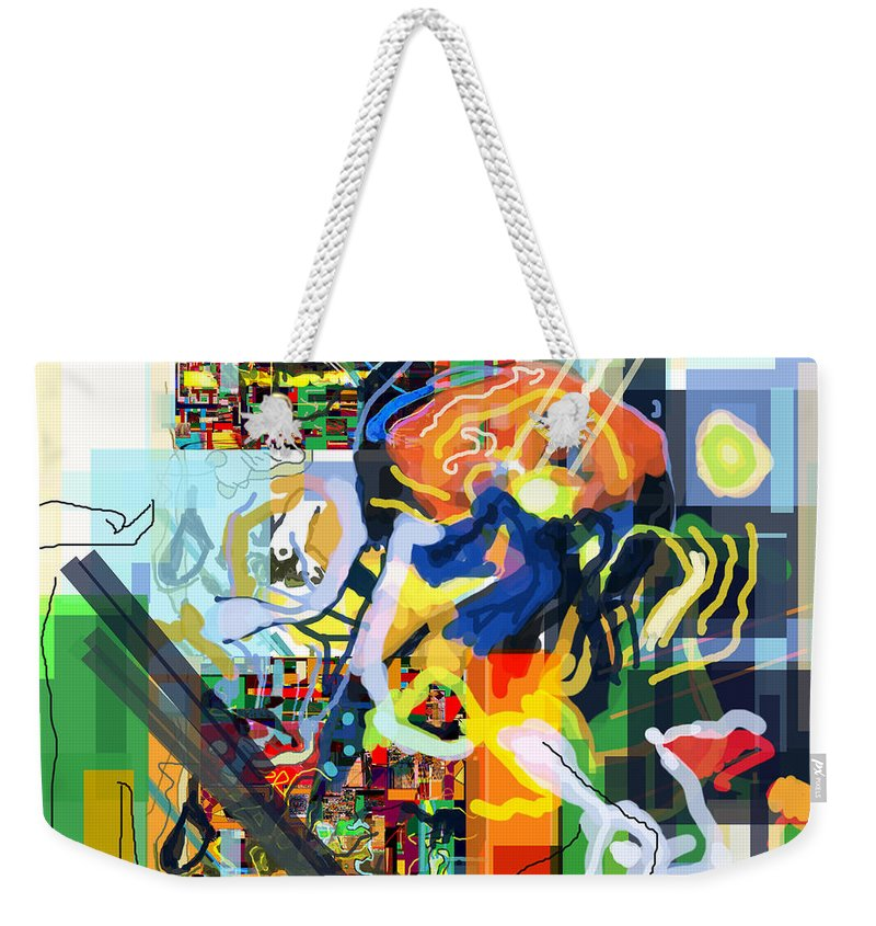 Weekender Tote Bag featuring the digital art Daas 17i by David Baruch Wolk