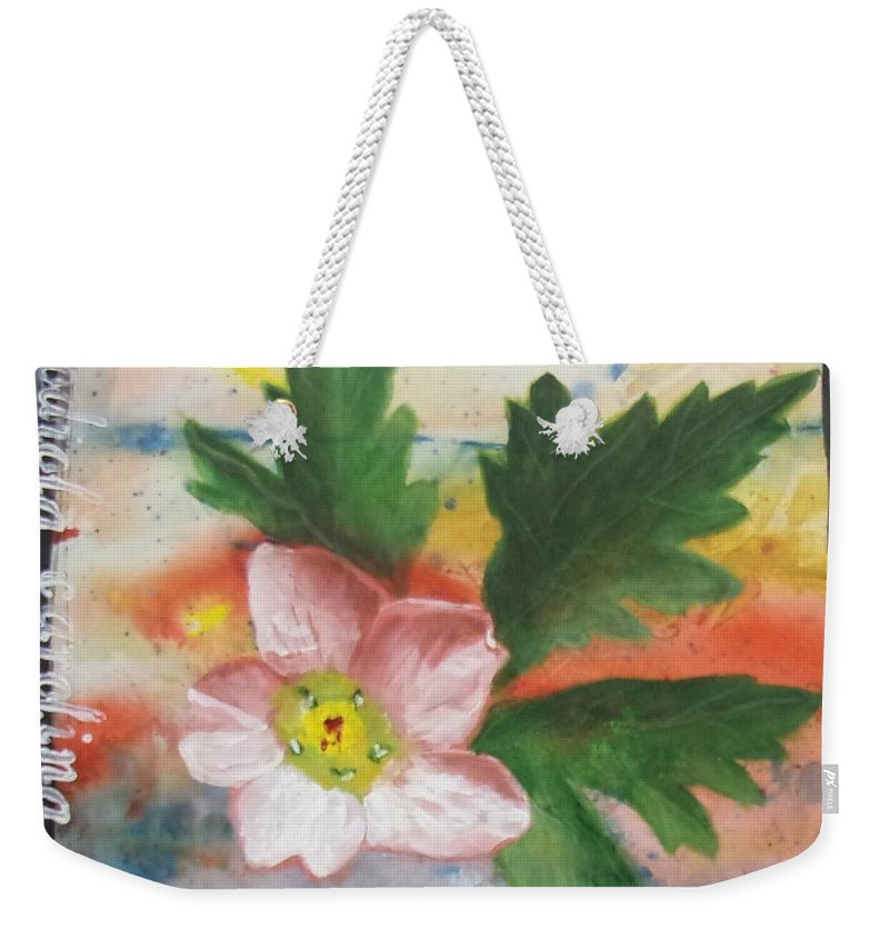 Series Weekender Tote Bag featuring the painting Texas Wildflowers Tp X by Michael Dillon