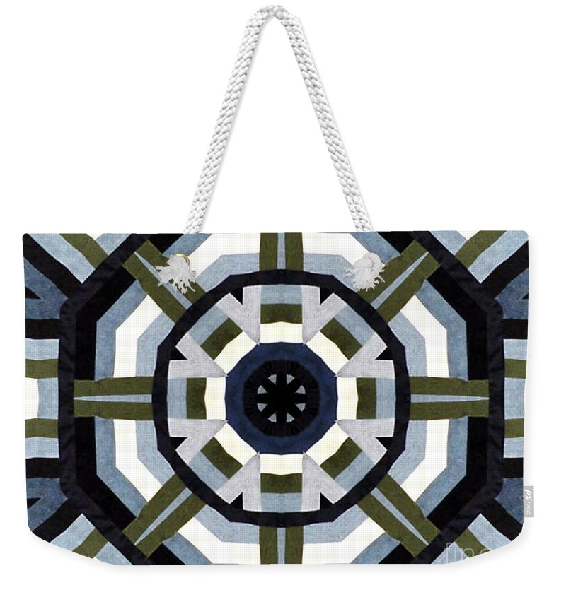 Denims Weekender Tote Bag featuring the photograph Daddy's Denims Quilt by Barbara Griffin