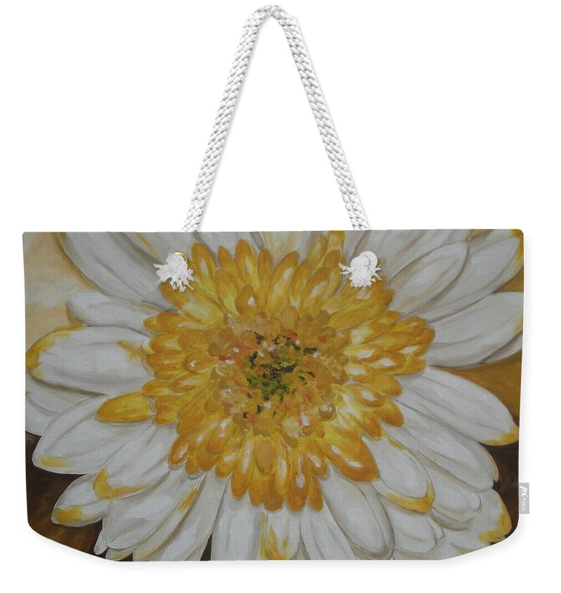 Daisy Weekender Tote Bag featuring the painting Daisy-2 by Graciela Castro