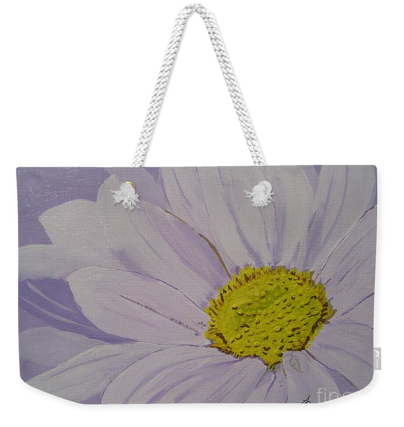 Daisy Weekender Tote Bag featuring the painting Daisy by Anthony Dunphy