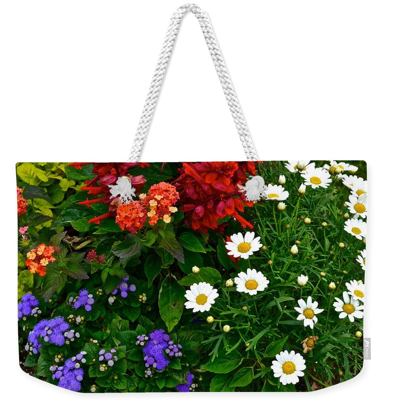Daisy Weekender Tote Bag featuring the photograph Daisy Field by Frozen in Time Fine Art Photography