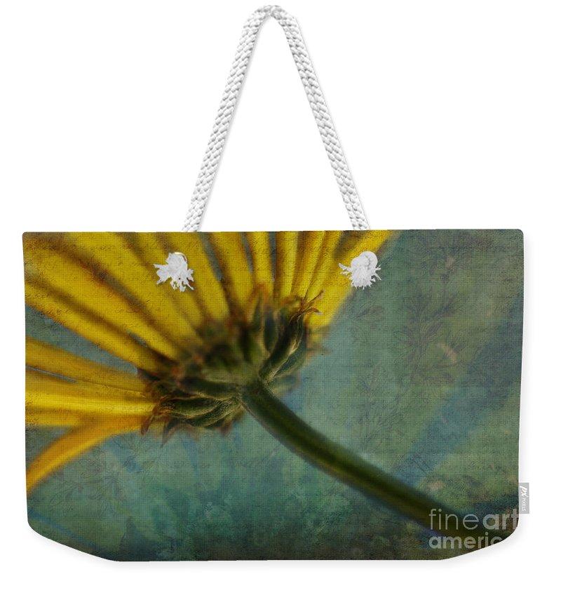 Flowers Weekender Tote Bag featuring the digital art Daisy Reach by Erika Weber