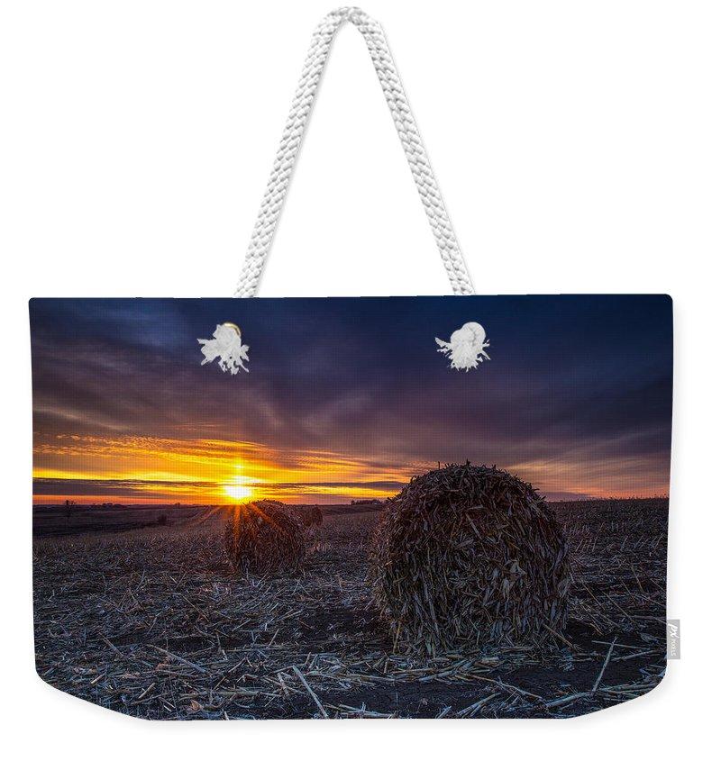 Sunset Weekender Tote Bag featuring the photograph Dakota Sunset by Aaron J Groen