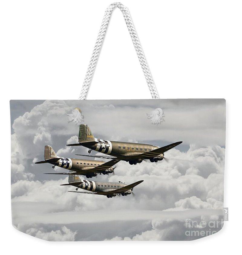 Dakota Weekender Tote Bag featuring the photograph Dakotas by J Biggadike