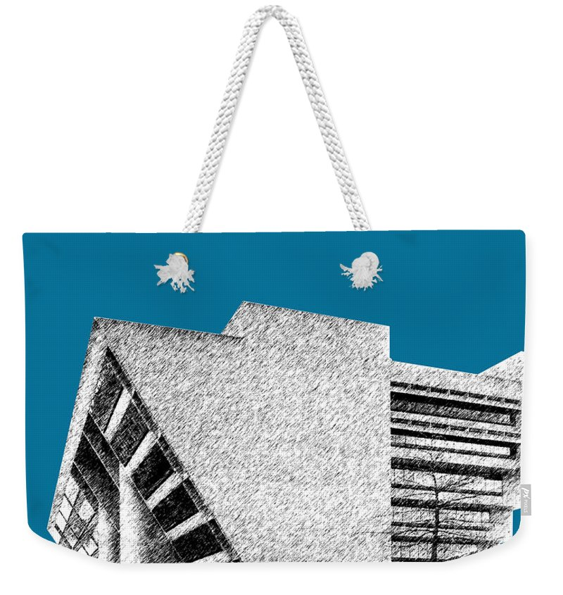 Architecture Weekender Tote Bag featuring the digital art Dallas Skyline City Hall - Steel by DB Artist