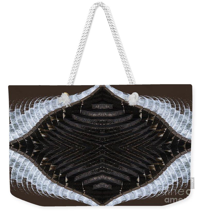Dammed Weekender Tote Bag featuring the digital art Dammed by Wendy Wilton