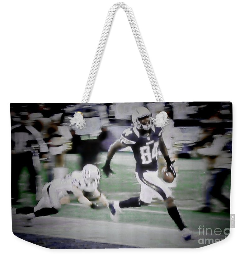 San Diego Chargers Nfl Football Touchdown Wide Receiver Team San Diego Chargers Nfl Football Touchdown Wide Receiver Team San Diego Chargers Nfl Football Touchdown Wide Receiver Team San Diego Chargers Nfl Football Touchdown Wide Receiver Team San Diego Chargers Nfl Football Touchdown Wide Receiver Team San Diego Chargers Nfl Football Touchdown Wide Receiver Team Weekender Tote Bag featuring the photograph Danario Alexander - Chargers by RJ Aguilar