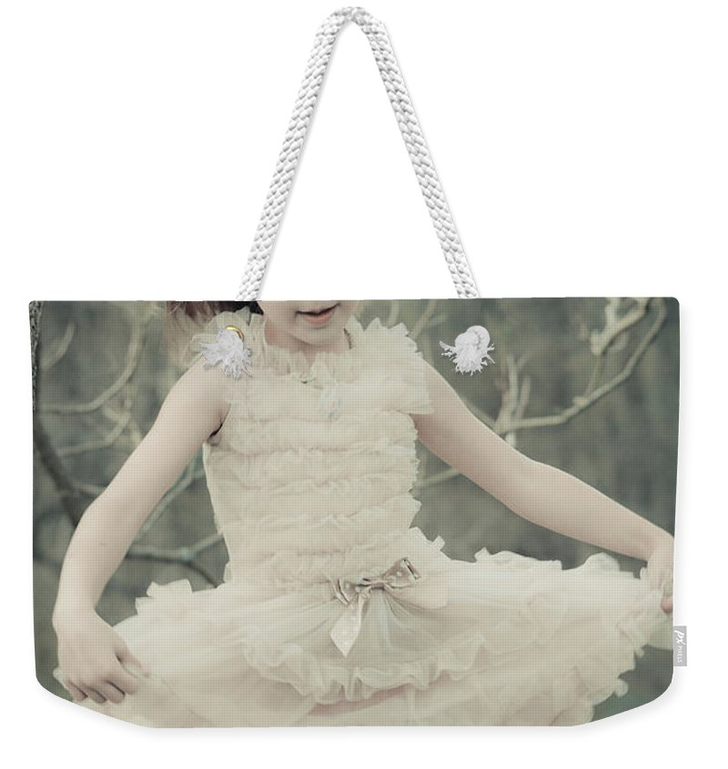 Girl Weekender Tote Bag featuring the mixed media Dance Like Nobody's Watching by Trish Tritz
