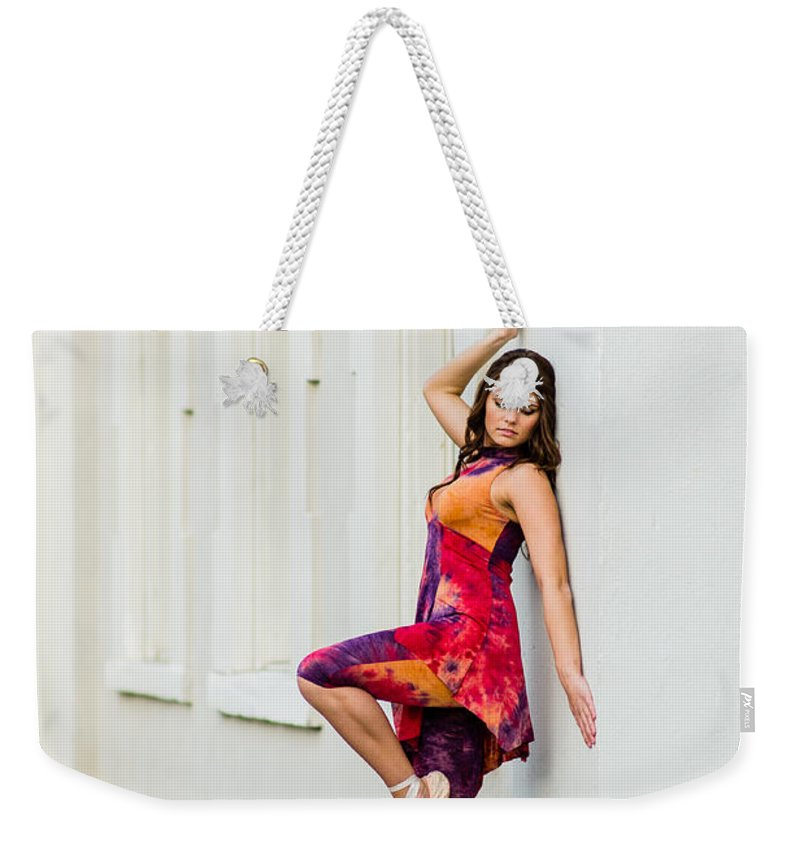 Durham Weekender Tote Bag featuring the photograph Dance On The Wall by Jh Photos