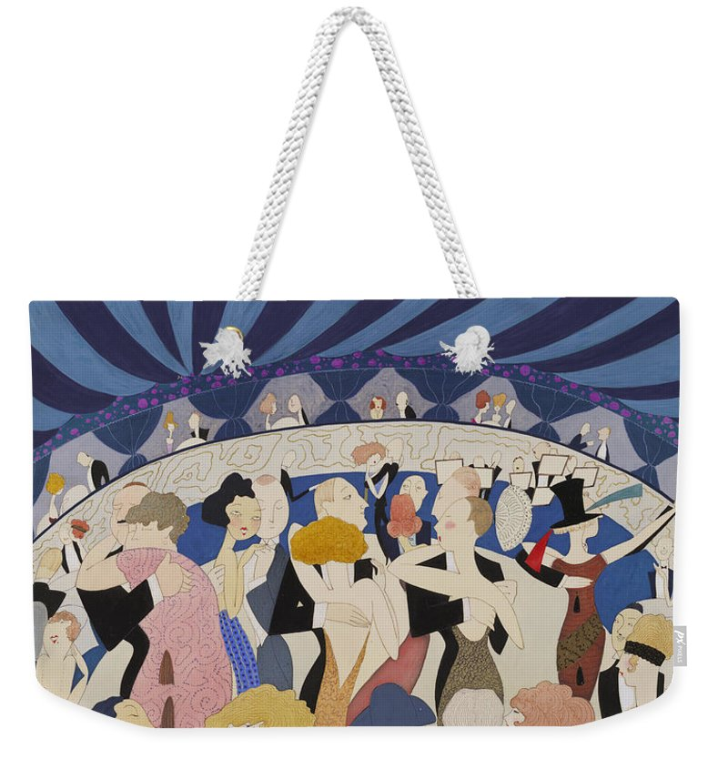 Anne Harriet Fish Weekender Tote Bag featuring the digital art Dancing Couples by Georgia Fowler