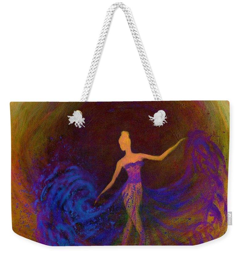 Dancing In The Dark Weekender Tote Bag featuring the digital art Dancing In The Dark by Lilia D
