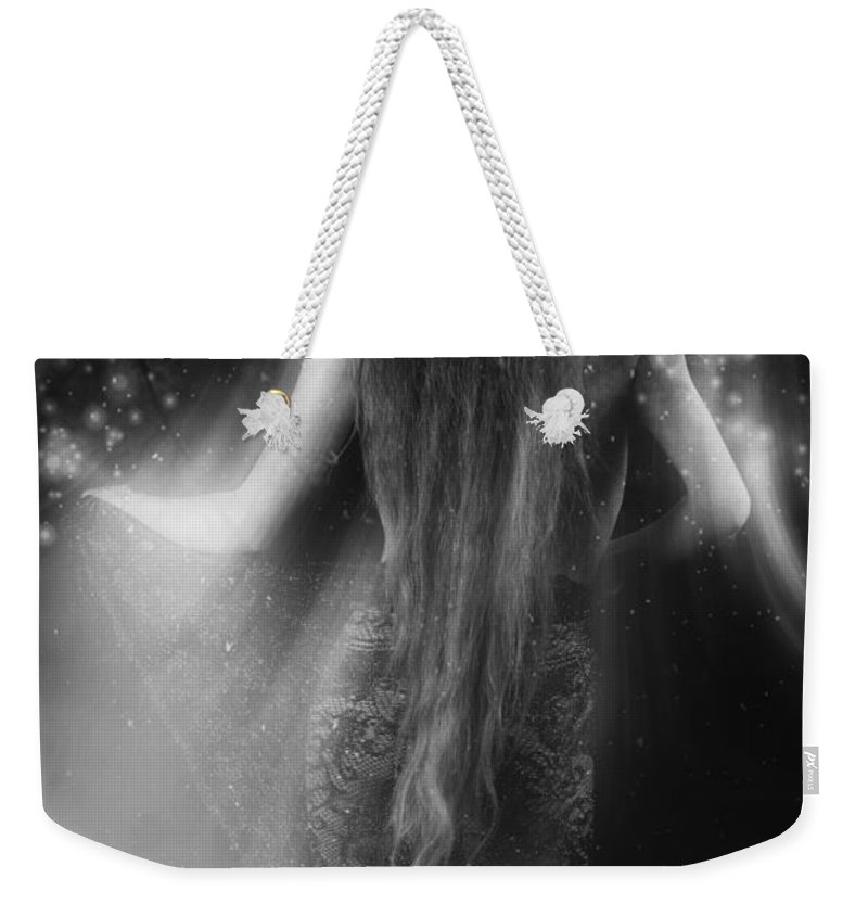 Festblues Weekender Tote Bag featuring the photograph Dancing In The Moonlight... by Nina Stavlund