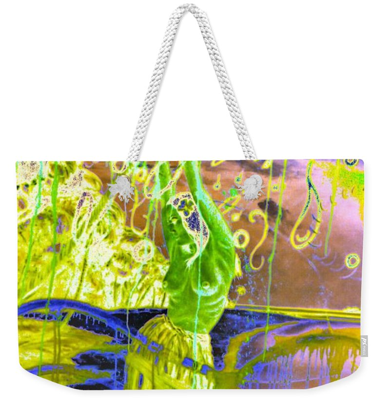 Genio Weekender Tote Bag featuring the mixed media Dancing The Spirit Of Springtime by Genio GgXpress