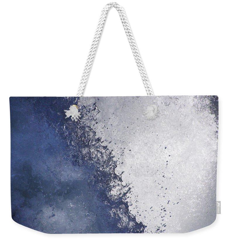 Dancing Water Weekender Tote Bag featuring the photograph Dancing Water Drops by Tayne Hunsaker