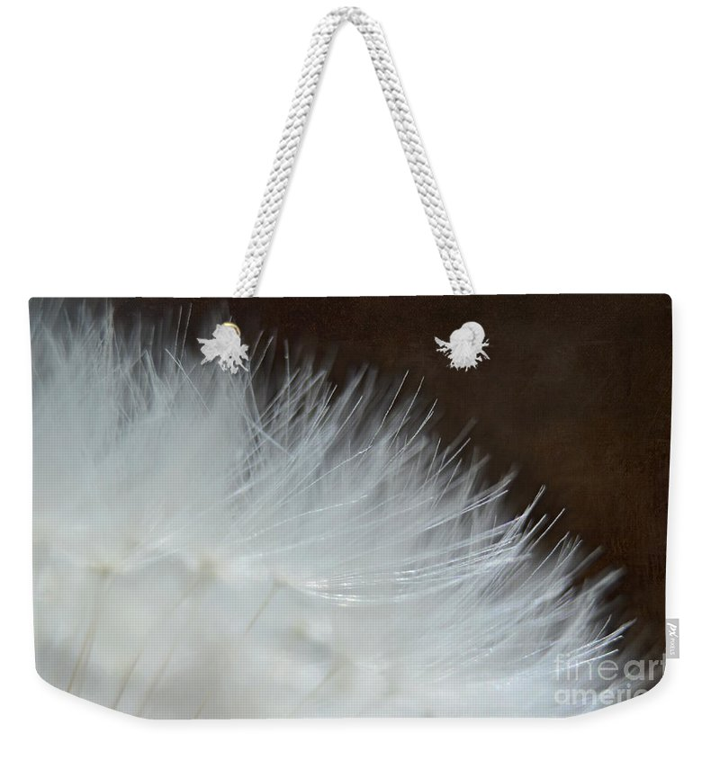 Nature Weekender Tote Bag featuring the photograph Dandelion Seed Head Macro I by Debbie Portwood