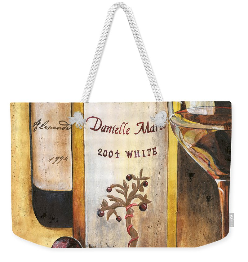Red Grapes Weekender Tote Bag featuring the painting Danielle Marie 2004 by Debbie DeWitt