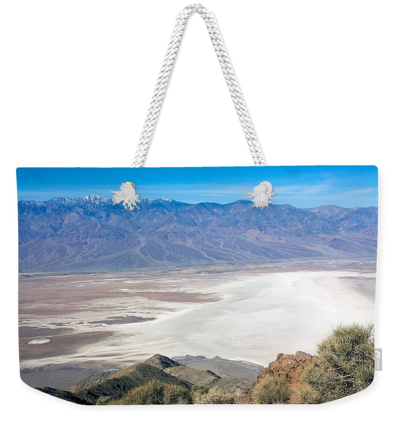 Death Valley Weekender Tote Bag featuring the photograph Dante's View #3 by Stuart Litoff
