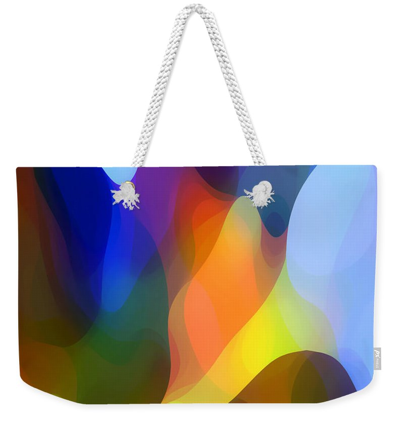 Abstract Art Weekender Tote Bag featuring the painting Dappled Light by Amy Vangsgard