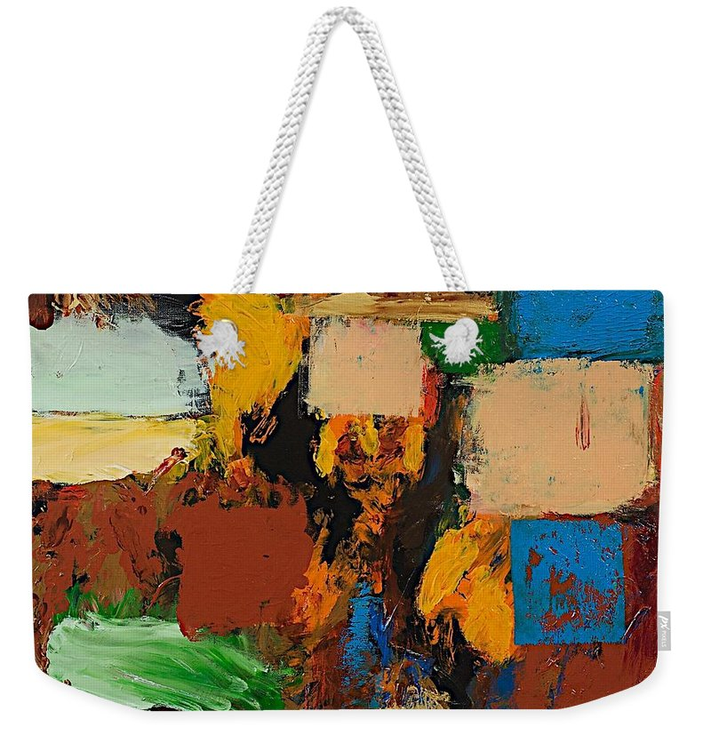 Landscape Weekender Tote Bag featuring the painting Dare Again by Allan P Friedlander