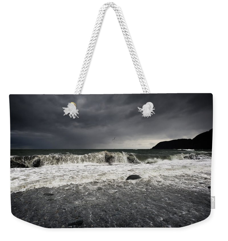 Gore Point Weekender Tote Bag featuring the photograph Storm Warning by Ted Raynor