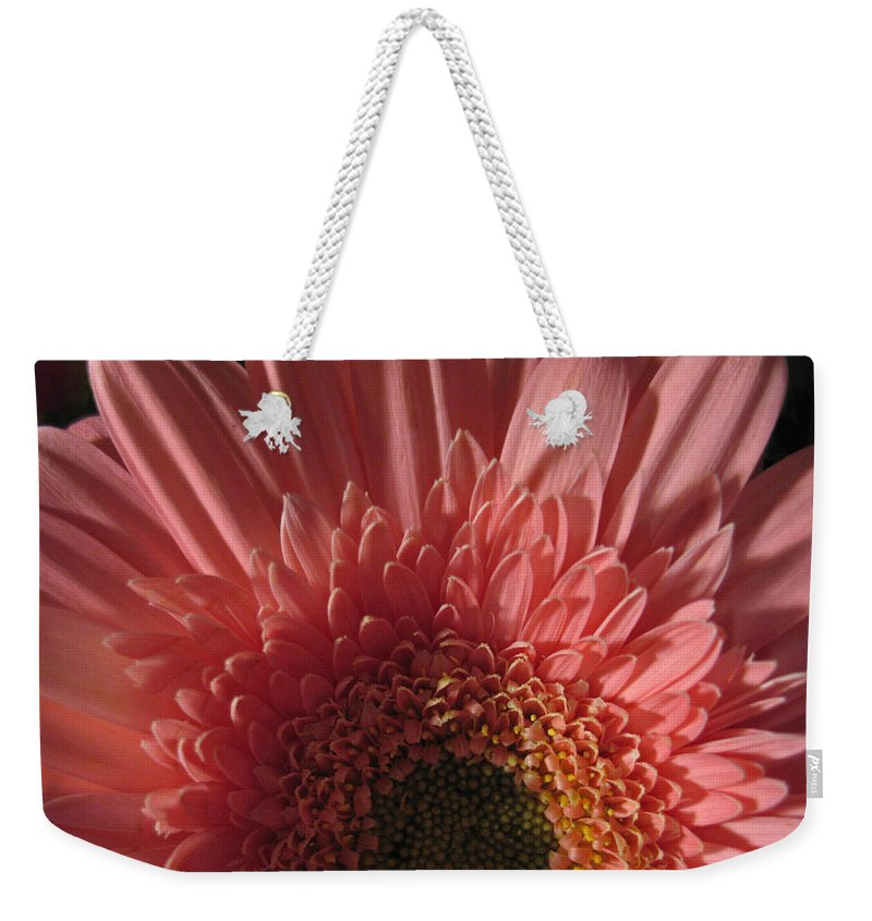 Flower Weekender Tote Bag featuring the photograph Dark Radiance by Ann Horn