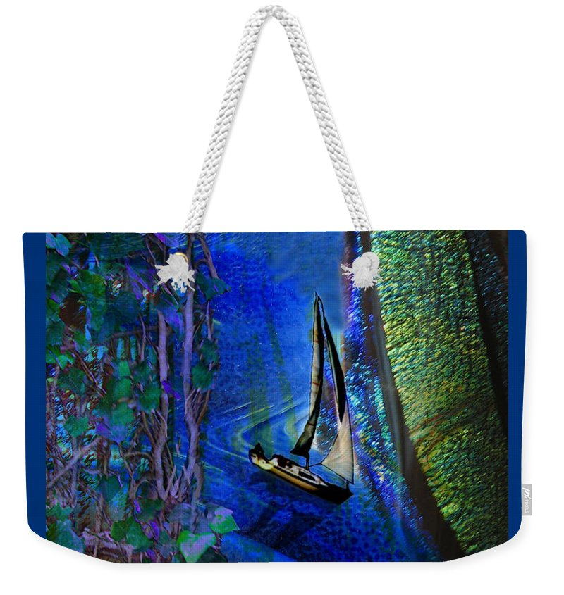 Dark River Weekender Tote Bag featuring the digital art Dark River by Lisa Yount
