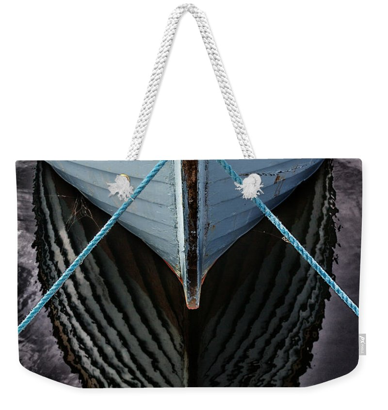 Bay Weekender Tote Bag featuring the photograph Dark waters by Stelios Kleanthous
