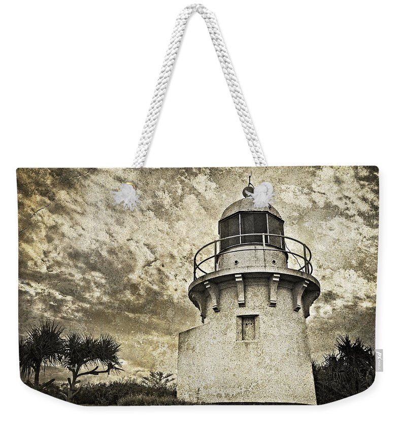 Lighthouse Weekender Tote Bag featuring the photograph Darkness Falls by Tony Steinberg