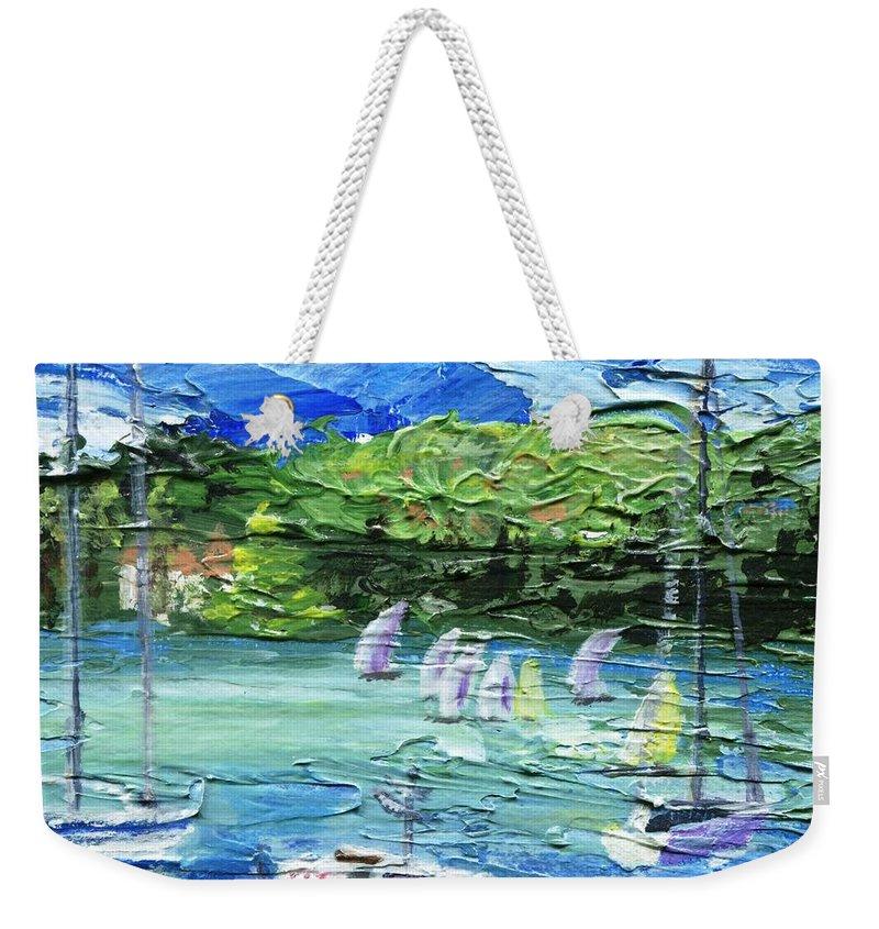 Impressionistic Weekender Tote Bag featuring the painting Darling Harbor II by Jamie Frier