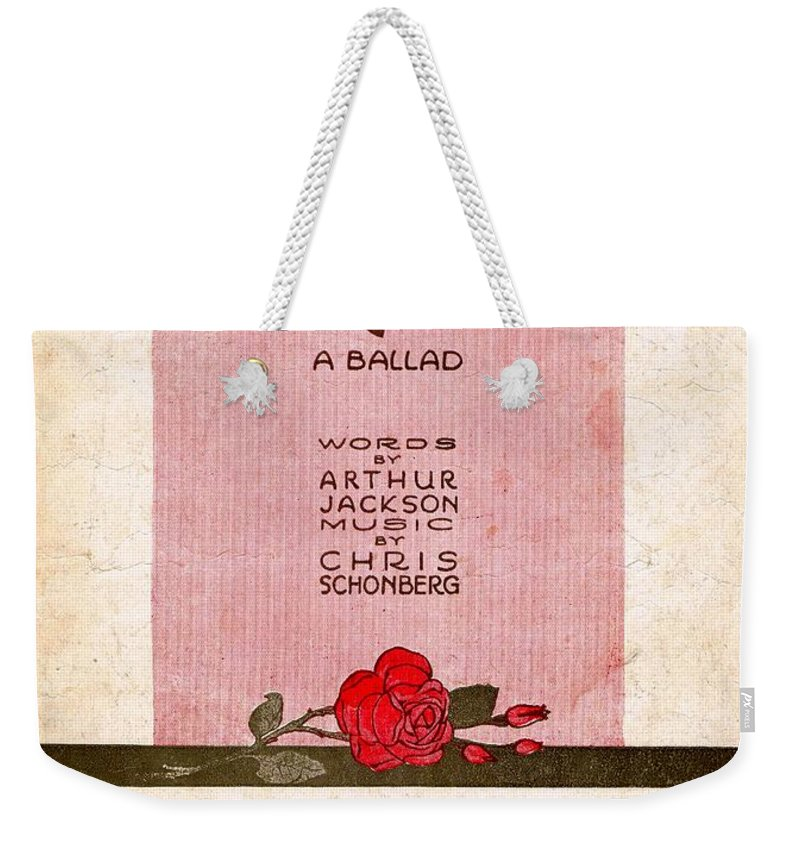 Nostalgia Weekender Tote Bag featuring the photograph Darling by Mel Thompson