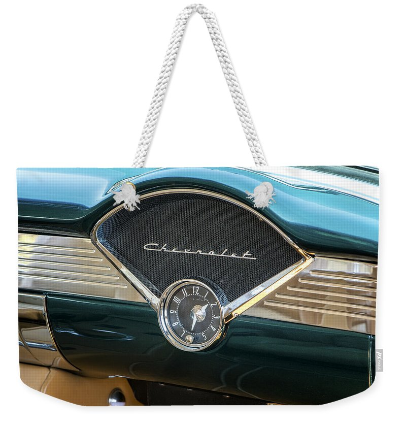 Chevrolet Weekender Tote Bag featuring the photograph Dashing by Caitlyn Grasso