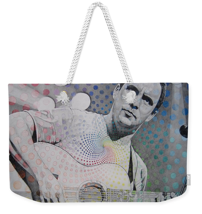 Dave Matthews Weekender Tote Bag featuring the drawing Dave Matthews All The Colors Mix Together by Joshua Morton