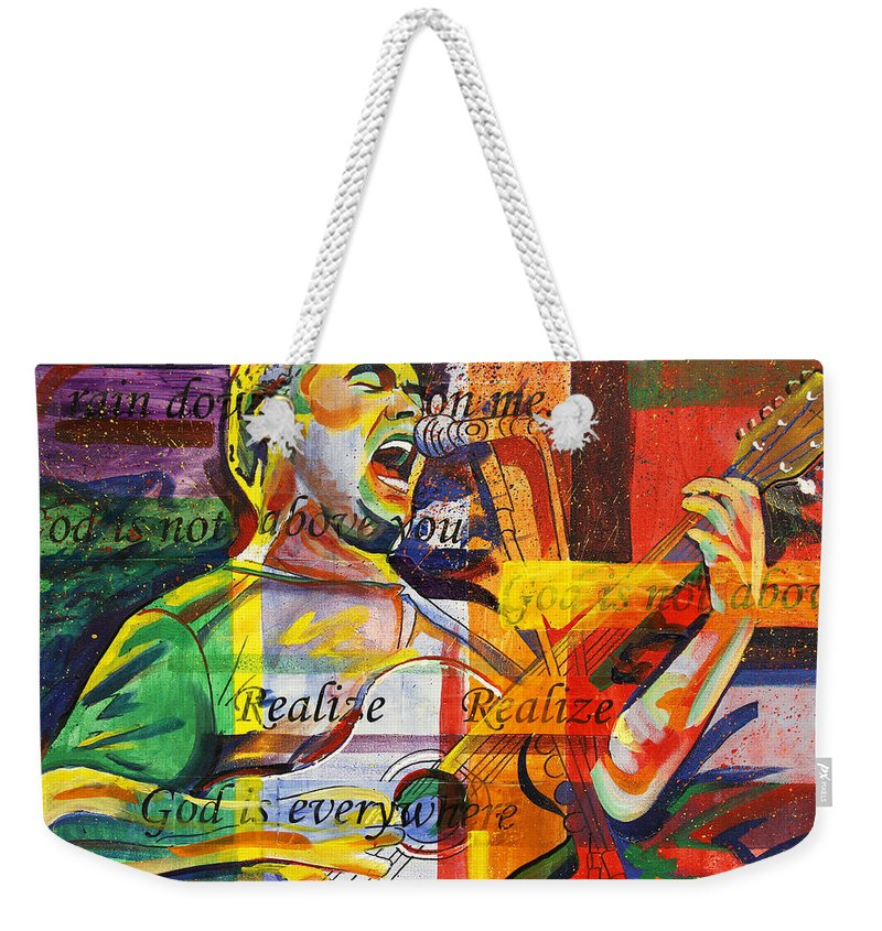 Dave Matthews Weekender Tote Bag featuring the painting Dave Matthews-bartender by Joshua Morton