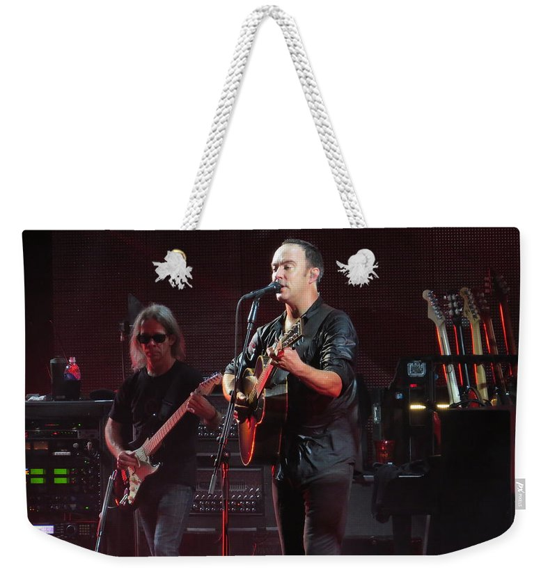 Dave Matthews Weekender Tote Bag featuring the photograph Dave Matthews Live by Aaron Martens