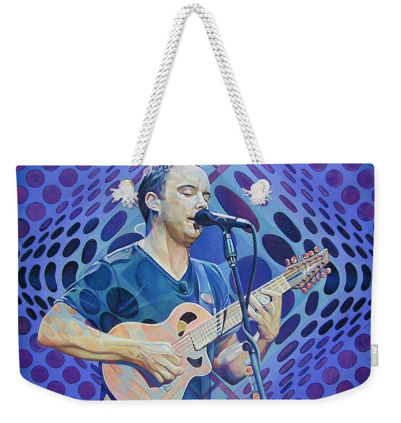 Dave Matthews Weekender Tote Bag featuring the drawing Dave Matthews Pop-op Series by Joshua Morton