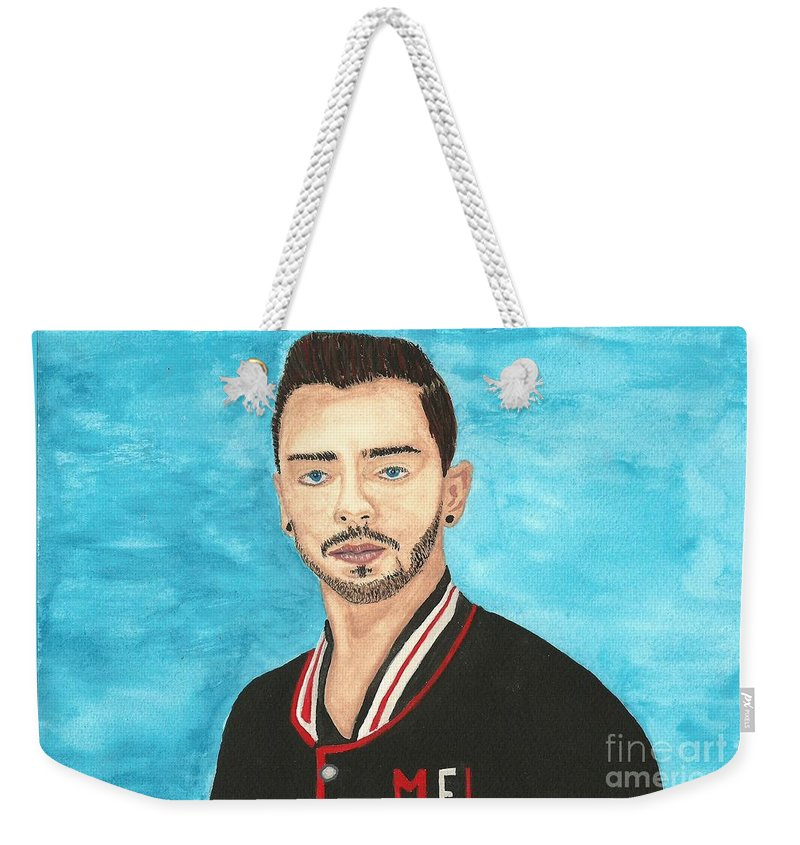 Tom Sismey Weekender Tote Bag featuring the painting Tom Sismey by John Williams