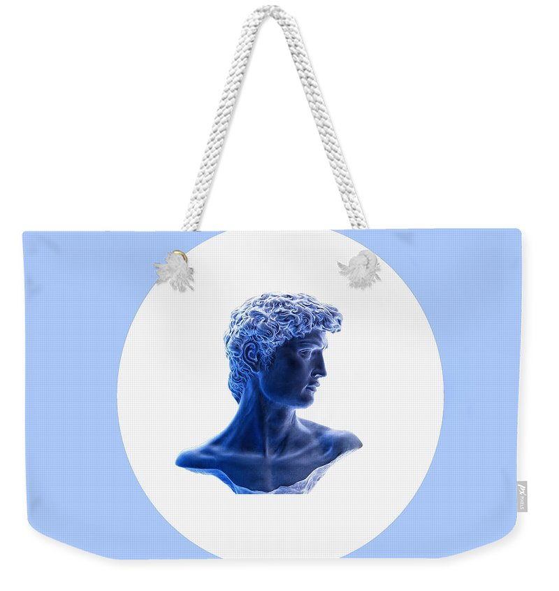 David Weekender Tote Bag featuring the photograph David 28 by Peter Lloyd