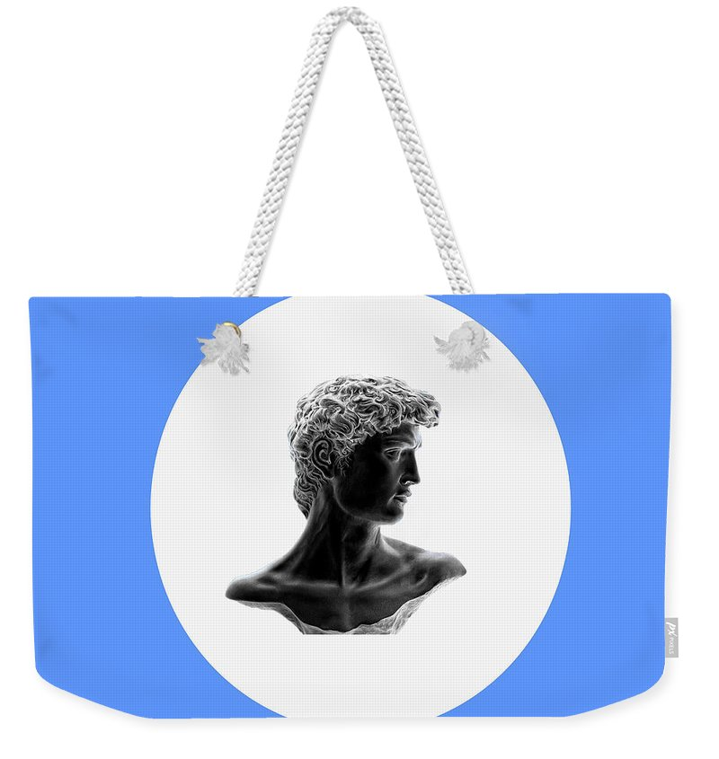 David Weekender Tote Bag featuring the photograph David 35 by Peter Lloyd