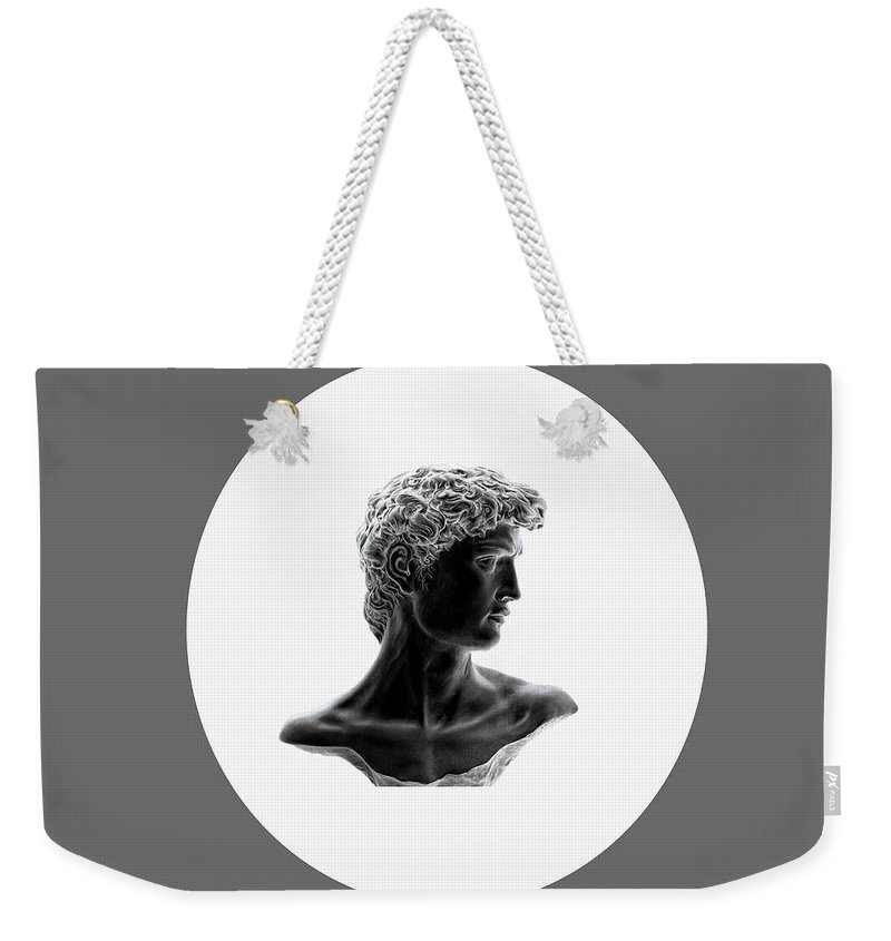 David Weekender Tote Bag featuring the photograph David 42 by Peter Lloyd