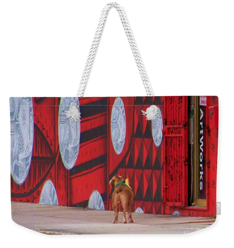 Dawg Weekender Tote Bag featuring the photograph Dawg I Blend In by Chuck Hicks