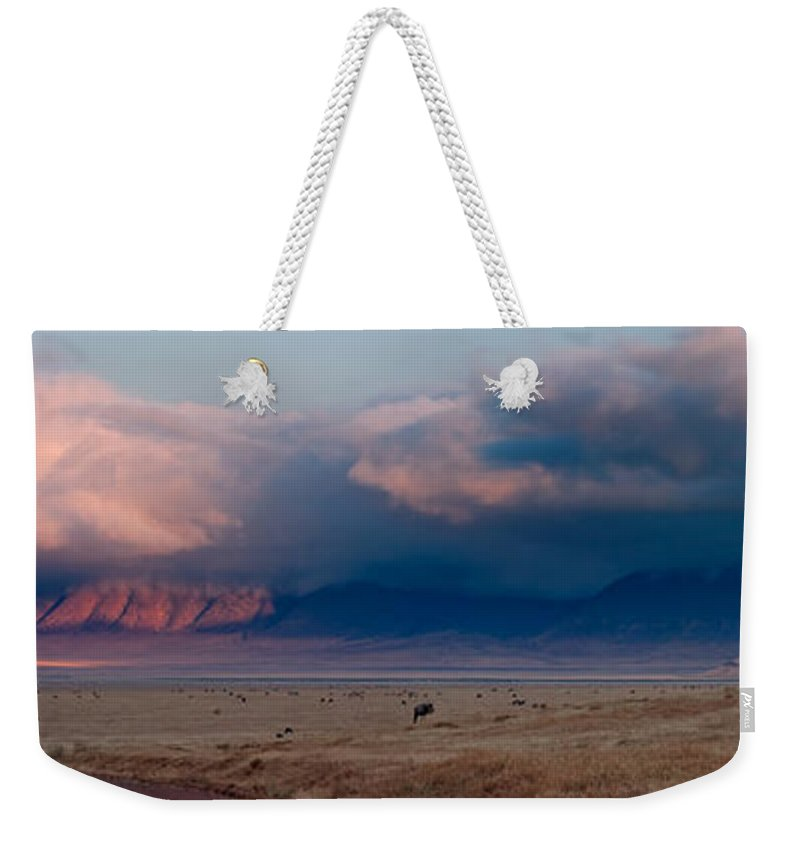 3scape Weekender Tote Bag featuring the photograph Dawn In Ngorongoro Crater by Adam Romanowicz