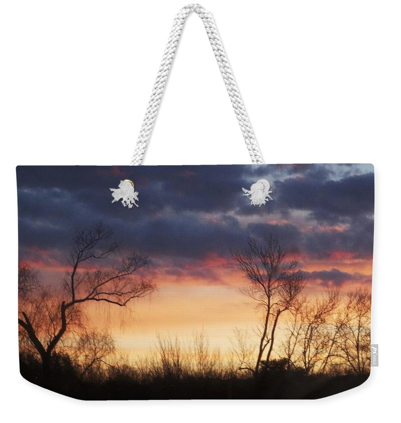 Dawn Weekender Tote Bag featuring the photograph Dawn In The Catskills by Ellen Levinson