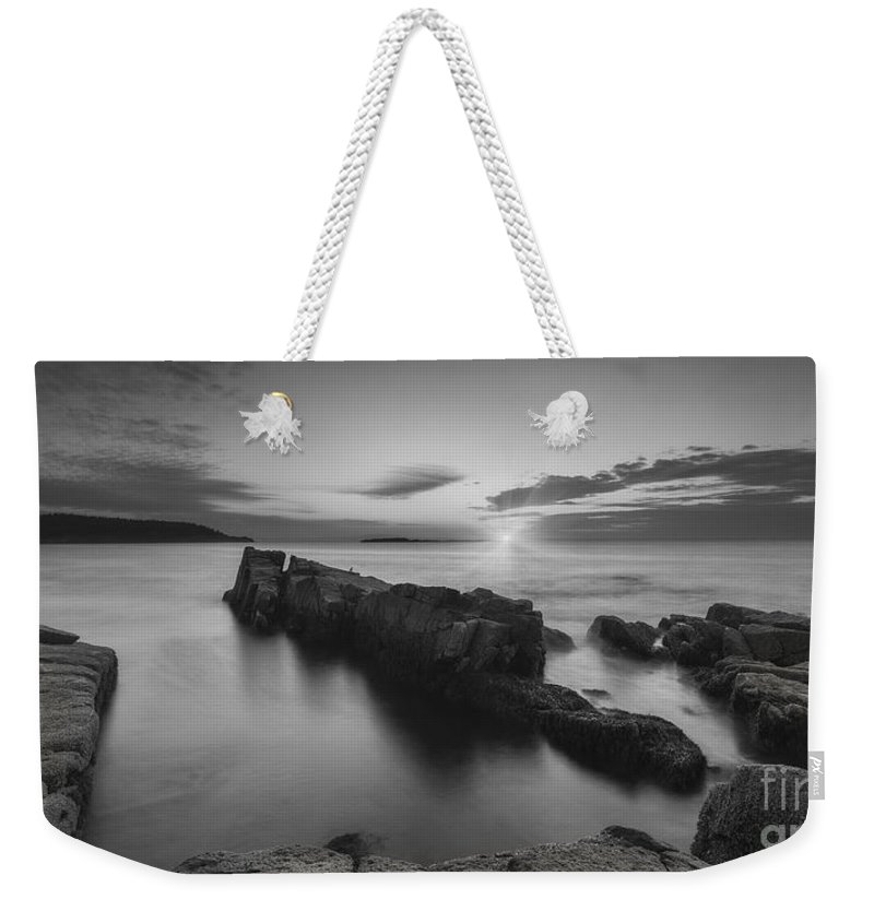 Michael Ver Sprill Weekender Tote Bag featuring the photograph Dawn Of A New Day Bw by Michael Ver Sprill