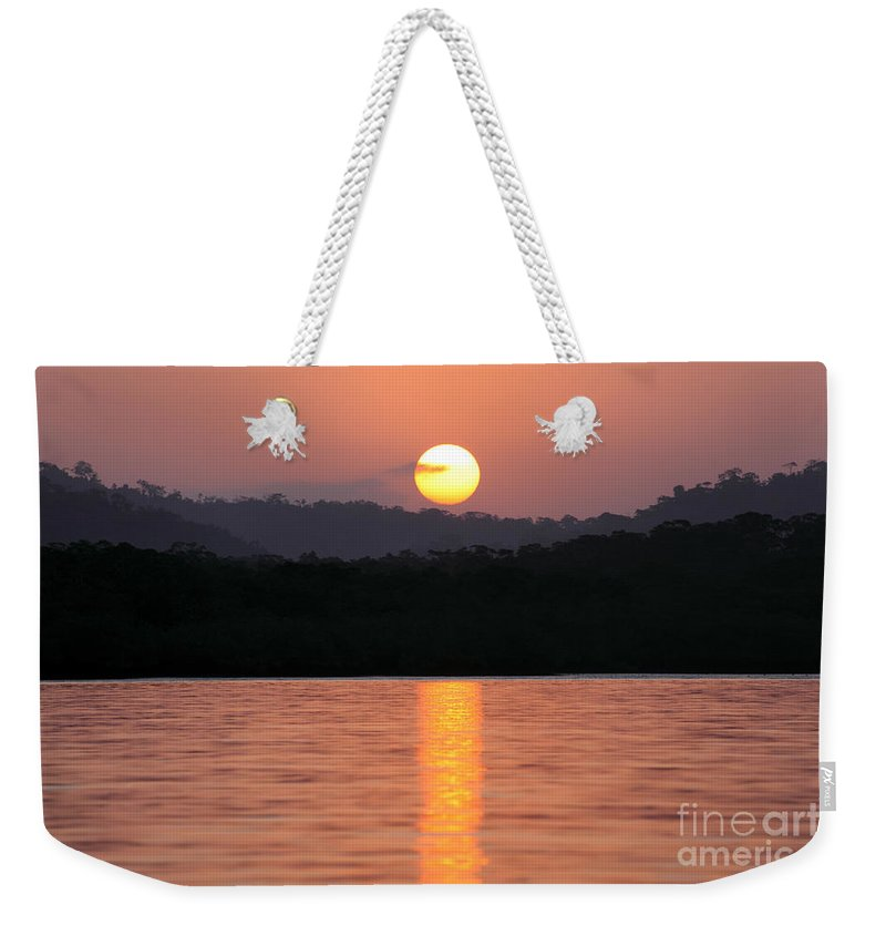 Panama Weekender Tote Bag featuring the photograph Dawn Over Darien by James Brunker