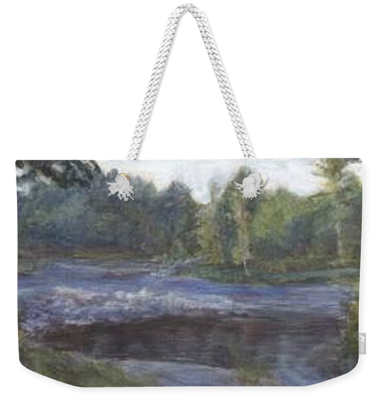 Dawn Weekender Tote Bag featuring the painting Dawn by Sheila Mashaw