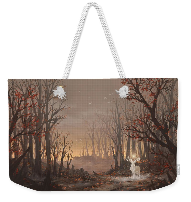 Tree Weekender Tote Bag featuring the digital art Dawn Spirit by Cassiopeia Art