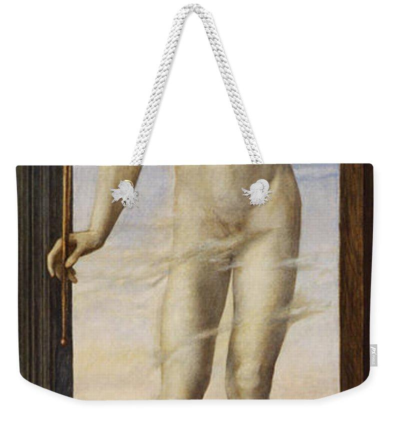 Edward Burne Jones Weekender Tote Bag featuring the digital art Day by Edward Burne Jones